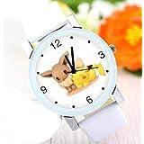 ポケモン ポケットモンスター イーブイ 時計 腕時計 とけい かわいい ホワイト