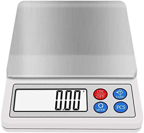 GXT Escalas de Cocina Digitales con Pantalla LCD, Escamas de Alimentos, Escala electrónica, fácil de Limpiar, Usado para Pesar Fruta, Verduras Pequeña