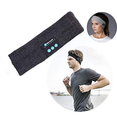 N\ A Bluetooth Stirnband Wireless, Stirnband Wireless Sleep Kopfhörer Ultra-Thin HD Stereo Lautsprecher Freisprecheinrichtung Musik Sport Headset Dunkelgrau