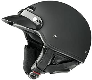 Raider Deluxe Open Face Helmet (Flat Black, X-Large)