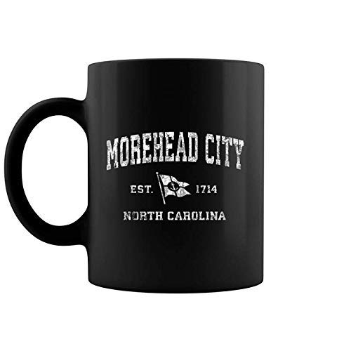 Morehead City NC Vintage nautische Bootsflagge Sport-Kaffeetasse
