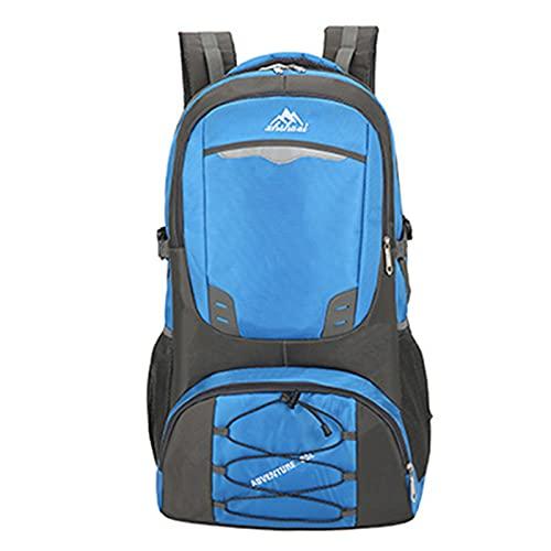 LEIKEI Wanderrucksack, Großer Rucksack Für Herren Damen, Reiß- Und Wasserfest Ideal Für Camping Trekking Reisen Outdoor,Blue-40L*
