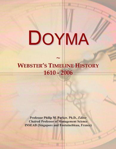 Doyma: Webster's Timeline History, 1610 - 2006