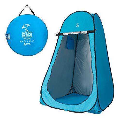 Aktive 62163 - Tienda campaña cambiador para camping con suelo 120x120x190 cm Azul