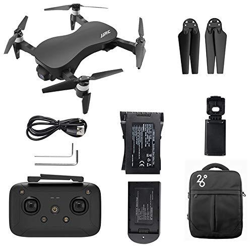Bascar Drohne Mit Kamera JJRC X12 4K HD Kamera 5G WiFi FPV GPS Schwanzloser Motor Faltbarer Quadcopter Intelligente Positionierung Kopfloser Modus Weitwinkelobjektiv Echtzeitübertragung (Schwarz)