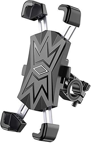 Soporte para pelotas de bicicleta, con 4 pinzas de acero inoxidable, montaje telefónico de rotación de 360 ° para moto de bicicleta, compatible con teléfonos de 4,5 a 7,5 pulgadas Ban Lu Yi