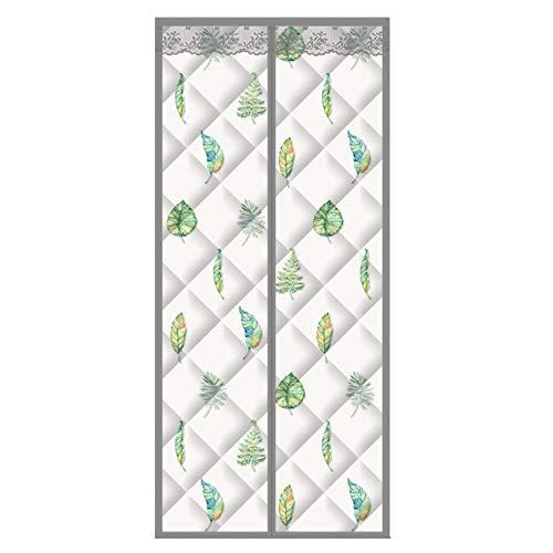 QIAOH Wärmeschutzvorhang Für Tür Isolier 120x220cm, Thermo Türvorhang Magnetisch, Türvorhang Wärmeschutz Magnet, Haushalt Schlafzimmer Klimaanlage Vorhang
