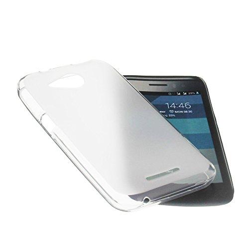 foto-kontor Tasche für Phicomm Clue M Gummi TPU Schutz Handytasche milchig transparent