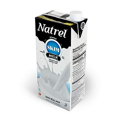 Natrel | Skim Milk | 32 Ounce | Pack of 6 | Shelf Stable Milk | Gluten-Free | Kosher | Non-GMO | No Refrigeration Needed | Fresh Taste that Lasts for Months | Made in the U.S.A