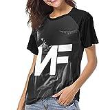 ATRXZ Womens NF Rapper Logo Fans T Shirt Shirts for Teen Girls Women Tshirt Clothes Merch Black M