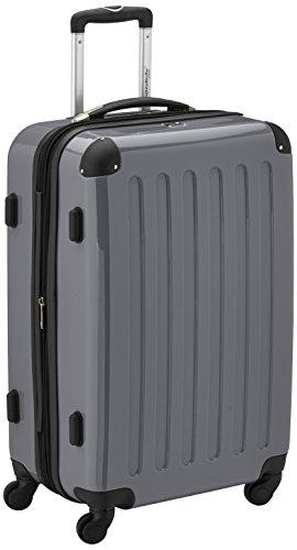 HAUPTSTADTKOFFER - Alex - Hartschalen-Koffer Koffer Trolley Rollkoffer Reisekoffer Erweiterbar, 4 Rollen, TSA, 65 cm, 74 Liter, Titan
