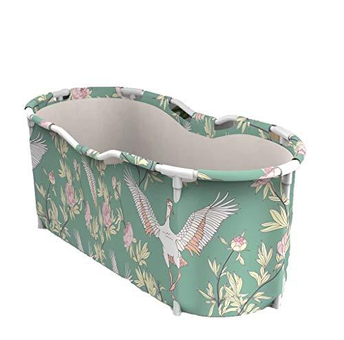 Bañera plegable portátil, bañera plegable para adultos, bañera de hidromasaje para baño familiar independiente, bañera de cubo de plástico grueso, bañera de inmersión, Style-3,120 * 60 * 60cm (3kg)