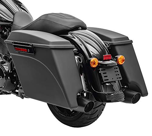 Seitenkoffer Stretched für Harley Davidson Street Glide (FLHX) 06-13 schwarz matt