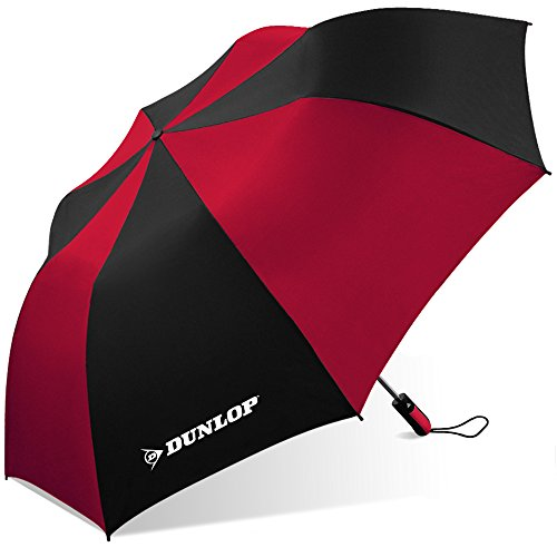 Dunlop Folding Two-person Umbrella-56-dl Black/red, One Size