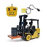 ZCYXQR RC Truck Crane 1: 8 Control Remoto de 11 vías con música Ligera Ingeniería Crane Engineer RC Present Toy (Regalo de cumpleaños Festivo)