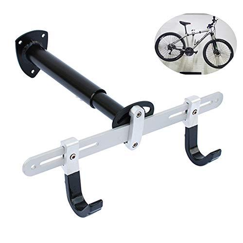 APXZC horizontale fiets-wandhouder, hoek 45 graden instelbaar, aluminiumlegering materiaal, robuust, duurzaam, krasbestendig, voor mountainbikes