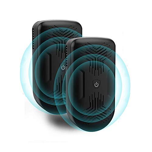 AONBYS Ultraschall Schädlingsbekämpfer[2er-Pack], Haustierfreundlich Ultraschall mit Elektromagnetische Vertreiber gegen Ratten, Mäuse, Spinnen, Ameisen...