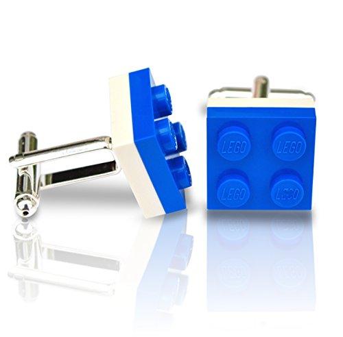 LEGO® Teller Manschettenknöpfe (blau und weiß) Hochzeit, Groom, Herren Geschenk