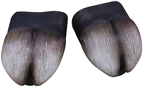 Ghoulish Productions Hooves Feet Covers Black/Gray