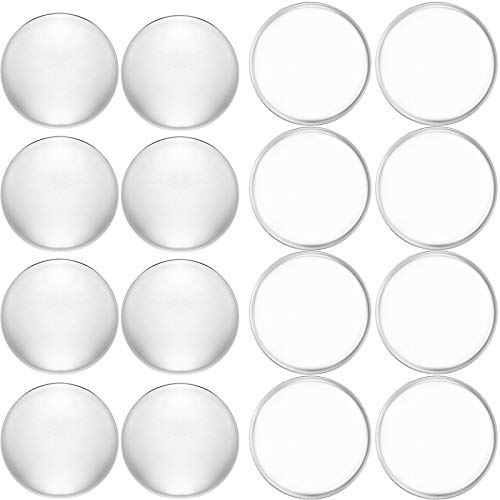 16 Pieces Door Knob Wall Protectors, Adhesive Door Stopper Clear Bumpers Wall Round Shield and Silencer for Door Handle Wall Protection, 8 Pieces 5cm and 8 Pieces 4cm