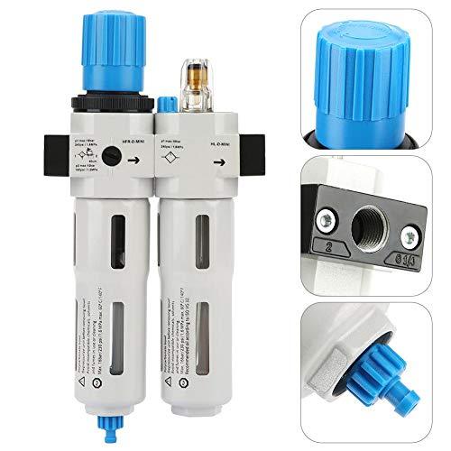 Druckluftregler,FRC-MINI-1/4 Luftstrom Prozessor Druckluftregelventil FRC-MINI-1/4 Festo Druckluftreglers Ölnebel-Dreifachstück mit Barometer/Fixierer/Befestigungsschrauben,Gute Abdichtung