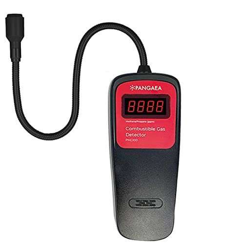 PANGAEA Gas Detector Portable Natural Gas Tester Detector, Combustible Propane Methane Gas Sensor Sniffer