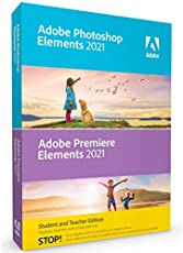 Adobe Photoshop Elements 2021 & Premiere Elements 2021 Student and Teacher [PC/Mac Disc] V.2021