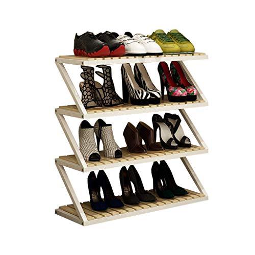 ZZYE Zapatero Estantes de Almacenamiento de estantes de Almacenamiento de Zapatos de 4 Niveles de Papel Estantes de Almacenamiento Titular de Almacenamiento Entrada Versátil Perchero Zapatero