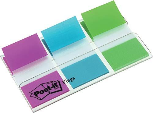 Post-it 90828 Segnapagina, Confezione da 3 Pezzi, Multicolore