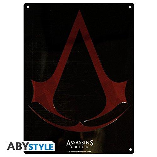 Assassins Creed–3d Cartel de chapa–Crest Logo–38x 28cm