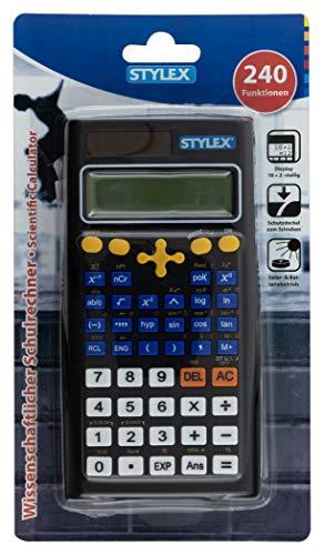 Stylex 38181 - Schulrechner mit 240 Funktionen, Dual Größe 16 x 8 cm, 1 Stück, schwarz