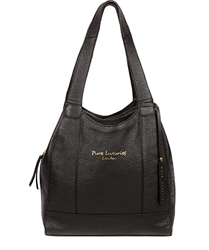 Pure Luxuries London Colette Women's 28cm Biodegradable Leather Handbag...