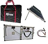 Kit de chargement solaire pliable de 100W et 12 V, pour camping-car, caravane,...