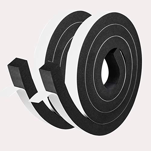 Super Dickes Selbstklebend Schaumstoff 25mm (B) x 20mm(D) x 4M (L) Schwarzes Dichtungsband Dichtband Anti-Kollision Schallisolation für Industrie Schiffbauen