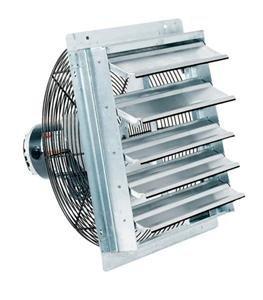 Fantech 2SHE0721 Axial Wall Shutter Fan, Direct Drive, 1/30 hp, 115V, 1 PH, TEFC, 7'