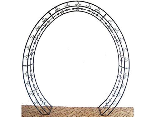 Oval Rosenbogen aus Metall