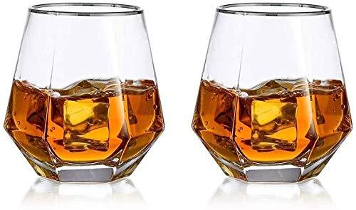 SOAR Botellero Conjunto De 2 Gafas De Whisky Inquebrantable Gafas De Agua Potable Premium 300ml Perfectamente Ponderado De Cristal Transparente Transparente para Bebidas Cortas Safe Apilable