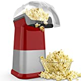 Hot Air Popcorn Poppers for Home, 1200W Popcorn Maker Machine for Healthy Snack
