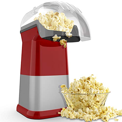 Find Bargain Home Hot Air Popcorn Maker, Popcorn Popper Machine, Healthy Oil Free, Fast, 1200W Small...