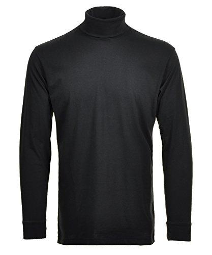 RAGMAN Rollkragen Pullover Baumwoll-Jersey 3XL, Schwarz-009