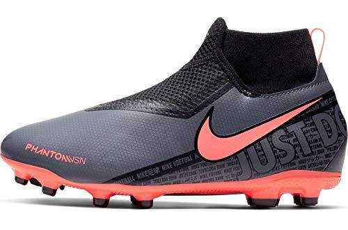Nike Unisex Babies Jr. Phantom Vision Academy Dynamic Fit Mg Children39s Football Boots, Dark GrayBright MangoBlack, 2.5 UK