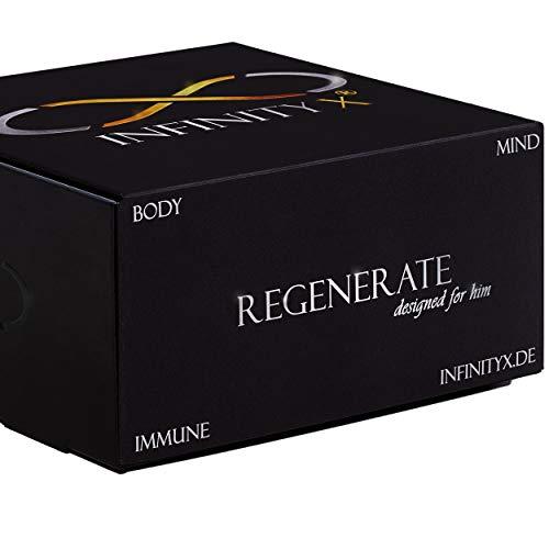 Regenerate Black | Antioxidant-Kur in 30 Einzelportionen | Komplex mit Transportmatrix | Hochdosiert | Regeneration & Immunsystem | 210 Kapseln | Laborgeprüft | Made in Germany | von INFINITY X
