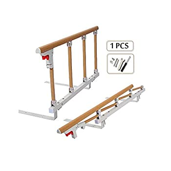 Bed Rails for Elderly Adults Grab Bar Bed Hand Rails Assist Rail Handle Fold Down Medical Hospital Sides Rails Guard Home Care Handicap Safety Assistance Devices  18 inch H