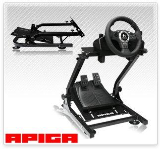 APIGA AP2 LENKRAD-KONSOLE (faltbar) (Modell 2020) für Logitech G27 T500RS GT5 etc.
