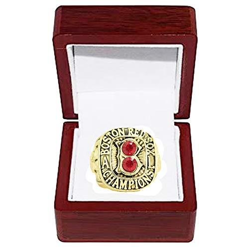WANZIJING Baseball-Meisterschaft Ringe, Boston Red Sox 1967 American League Champion Ring Replica für Fans Herren Geschenkideen anzeigen Aufbewahrungs,with Box