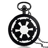 ZJZ Reloj de Bolsillo para Hombre con Insignia del Imperio Galáctico de Star Wars, Reloj de Bolsillo Retro Vintage del Imperio Galáctico para Regalo