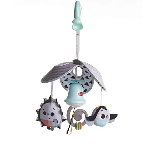 Tiny Love Mini Mobile Magical Tales, für Babys mit Großer Clip für unterwegs, mit 4 Spielmöglichkeiten, nutzbar ab der Geburt, black und white