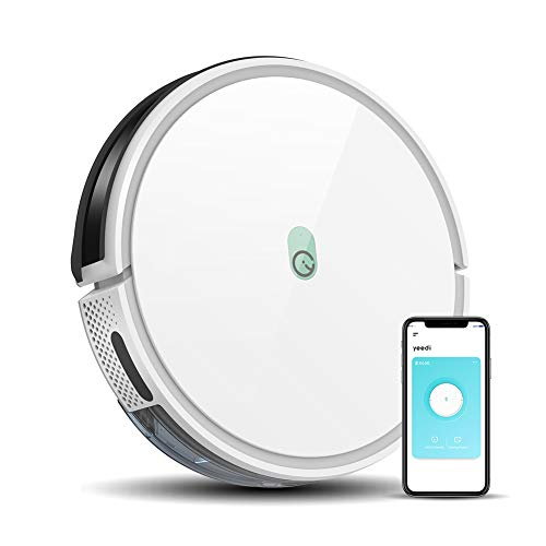 yeedi k650 Robot Vacuum, 2000Pa Wi-Fi Robotic Vacuum Cleaner with 800ML Big Dustbin and Tangle-Free Brush, Perfect for Pet Hair, Carpets, Hard Floors, Self-Charging, Compatible with Boundary Strips