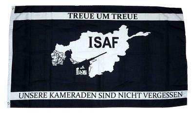 Fahne / Flagge ISAF Afghanistan Treue NEU 90 x 150 cm
