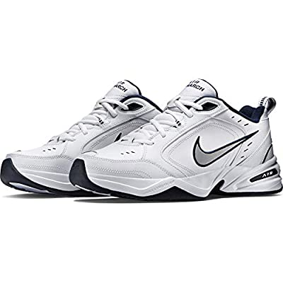 Nike Men's Air Monarch IV Cross Trainer, White/Metallic Silver/Midnight Navy, 11.0 Regular US